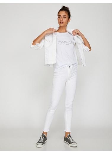 Koton Kate Jean Pantolon Beyaz